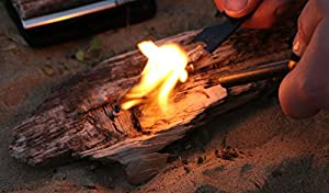Polymath Products Spitfire Fire Starter Chunky Ferrocerium Rod Fire Steel And Durable Striker For Ultra-reliable Fire Lighting 2 Pack by Polymath Products