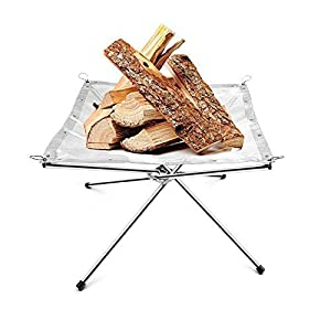 Portable Stainless Steel Mesh Outdoor Camping Fire Pit With A Carry Bag For Camping Or Patio Garden Fire Party from Spritool