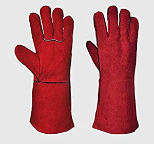 Portwest Woodburner Gloves High Temperature Stove Long Lined Welders Gauntlets Log Fire by Portwest
