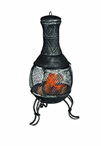 Premier Bh131342 39 X 89cm Burnished Mesh Chiminea Burner - Silver from Premier Decorations Limited