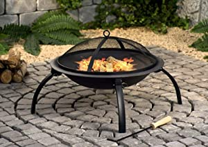 Premier Firepit With Mesh Cover by Premier Decorations Limited