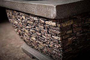 Premium Wood Burning Stone Fire Pit And Patio Heater by Callow Retail