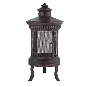 Prestige - Fire Pit - Outdoor Garden Heater - Large Round Cast Iron Copper from WorldStores