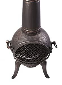 Primrose Medium Bronze Cast Iron Chimenea With Steel Flue