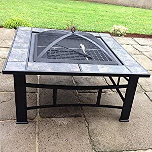 Raygar Fp44 Multifunctional 3 In 1 Outdoor Garden Square Fire Pit Bbq Ice Bucket Patio Heater Stove Brazier Metal Firepit Protective Cover -  from RayGar