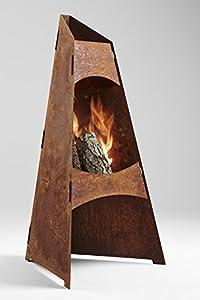 Redwood Denmark Garden Chiminea Corten Steel Fire Pit Patio Heater Garden Chimenea from Redwood Denmark