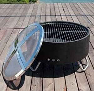 Revolver Fire Pit - Spark Guard from Direct Designs International