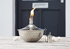 Roma - Copper Garden Oil Lantern - Outdoor Lighting Oil Lamp - Wedding Gift Valentines - 18 X 18 X 1650 Cm by Za Za Homes