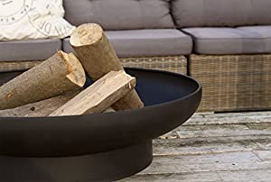 Round Fire Bowl Metal 60 Cm Black from 2L Home and Garden