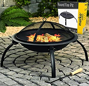 Round Fire Pit Folding Patio Garden Bowl Outdoor Camping Patio Heater Log Bbq Kotlich from Marko