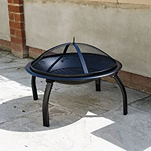 Round Fire Pit Lid Outdoor Garden Patio And Camping Log Burner from KCT Leisure
