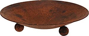 Round Garden Metal Fire Pit Fire Bowl - 46cm - Rust And Black Available Rust by Gardening-Naturally