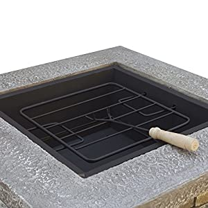 Royalfire Rfjc19802wbf-ns Square Fibreglass Wood Burning Fire Pit - Natural Stone from Cozy Bay
