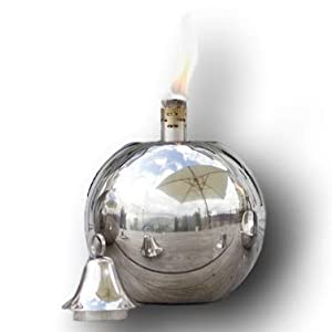 Sale Garden Oil Torch - Round Stainless Steel Ball - Table Or Patio Oil Torch Lantern - Wedding - Large - 22cm from Za Za Homes