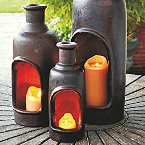 San Miguel Table Top Terracotta Chimenea Chiminea Heater Light Free Candle