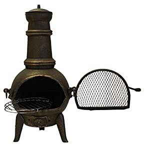 Santa Lucia - 126cm Cast Iron Chimenea Black - Large from Primrose
