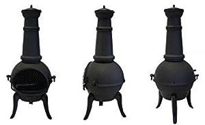 Santa Lucia Cast Iron Small Chimenea Black from Primrose