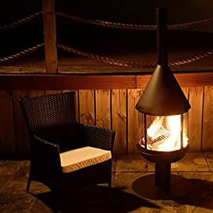 Santiago Black Metal Garden Chiminea from Simply Summer