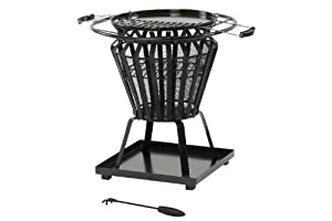 Signa Round Fire Pit With Removable Bbq Grill Plate by The Cowshed