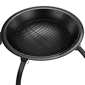Simpa Haute Styled Contemporary Fire Pit Fire Bowl Stylish Bbq Outdoor Fire Pit Ideal For Bbqs Alfresco Dining Parties Camping Beach Parties And General Contemporary Garden Decorations from Simpa®