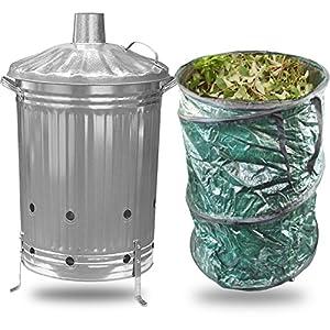 Simpa Large 90l Litre Garden Incinerator Burning Fire Bin Pit Waste Burner Large 90l Litre Pop Up Garden Waste Reusable Bag from SIMPA®