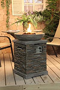 Slate Effect Gas Fire Pit And Fire Bowl from Callow Retail