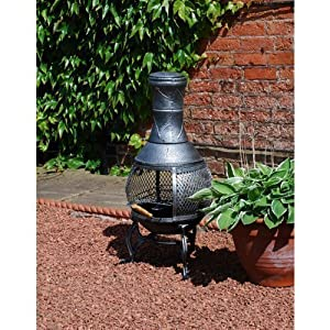 Small Cast Iron Chimenea Bbq from Greenhouse Warehouse