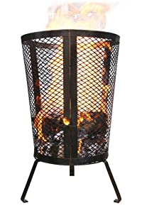 Small Environmentally Friendly Outdoor Steel Round Garden Incinerator - Ideal For Keeping Warm Burning Your Rubbish
