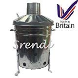 Small Medium Large 15l 60l 90l Litre Metal Galvanised Garden Incinerator Fire Bin Burning Leaves Paper Wood Rubbish Dustbin Made In U K Small 15l Inc from UK