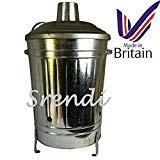 Small Medium Large Garden Fire Bin Incinerator Galvanised Ideal For Burning Wood Leaves Paper 60 Litre from S&MC Gardenware