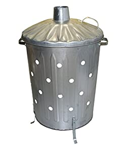 Small Medium Large Garden Fire Bin Incinerator Galvanised Ideal For Burning Wood Leaves Paper 90 Litre Fast Burner from S&MC Gardenware