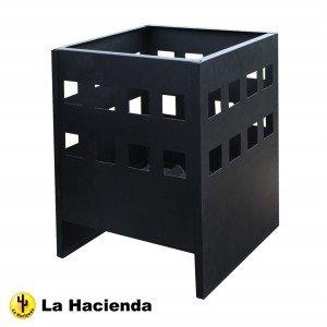 Square Black Steel Modern Novo Fire Basket Wood Burner Patio Heater