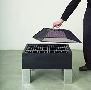 Square Firepit Brazier by Direct Designs
