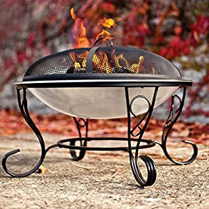 Stainless Steeel Firebowl With Mesh Cover 61cm High By Buchanan by Buchanan Europe Ltd