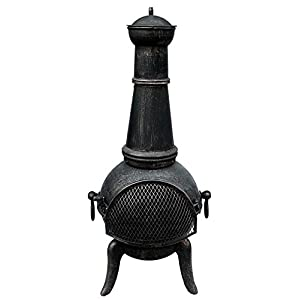 Steelcast Iron Chiminea Patio Heater Fire Pit - Garden Chiminea from Oypla