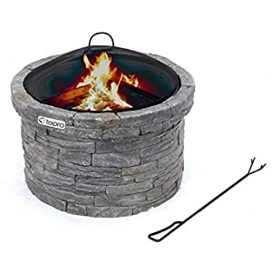 Stunning Stone Garden Fire Pit And Patio Heater