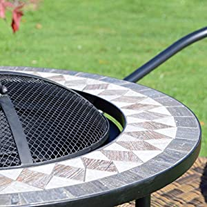Summer Terrace Brava Fire Pit Tall Brown by EUROPA LEISURE - OEM