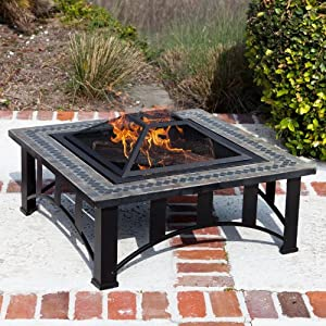 Suntastic Square Slate Fire Pit from SunTastic