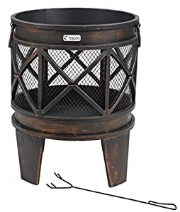 Tepro 1127 Gracewood Fireplacefirepit - Antique Look by Tepro