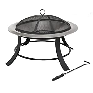 Tepro Silver City 1035 Stainless Steel Fire Pit by Tepro
