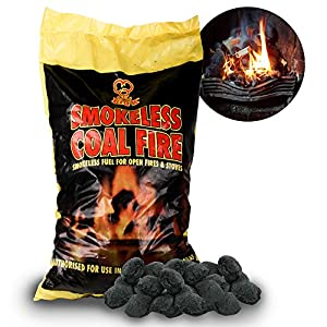 The Chemical Hut 20kg Of Smokeless Fire Fuel Coal Alternative For Log Coal Fires And Fire Pits - Comes With The Chemical Hut Anti-bacterial Pen from The Chemical Hut