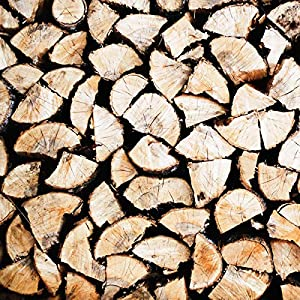 The Chemical Hut 20kg Premium Seasoned Hardwood Ash Logs Firewood Fuel For Open Fire Stoves Log Burner - Comes With The Log Hut White Woven Sack from The Chemical Hut