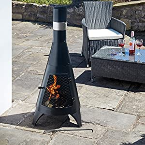 Thompson Morgan Garden Chimenea Cast Iron Wood Burner Fire Pit Diameter 46 X H1195cm Tall by Clifford James