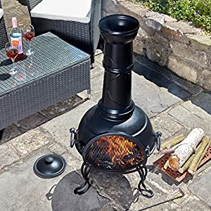 Thompson Morgan Garden Chimenea Wood Burner Fire Pit Diameter 445 X H104cm Large by Clifford James