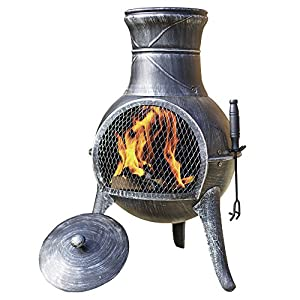 Torreon Steel Chimenea Set With Lid And Accessories Cast Iron Steel Fire Pit Wood Burner Charcoal Burner For Outdoor Garden Fireplace Patio Heater from Clifford James
