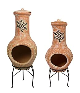 Tortuga Clay Chimenea - Large by Primrose