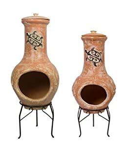 Tortuga Clay Chimenea - Medium by Primrose