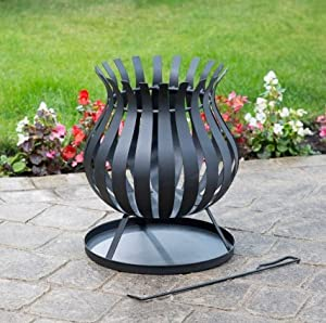 Tulip Shaped Fire Basket - - Free - Free Delivery