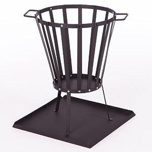 Ultranatura 20010000081e Fire Basket Vulcano Construction Set Includes Ash Collection Tray And Grill Extension by Ultranatura