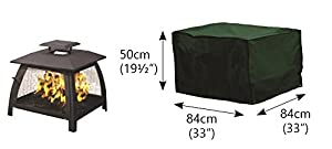Under Cover Essentials Large Square Fire Pit Cover - Height 50cm X Width 84cm by Under Cover